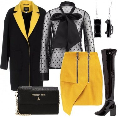 Outfit Nero e giallo