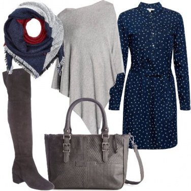 Outfit Poncho per tutti i giorni