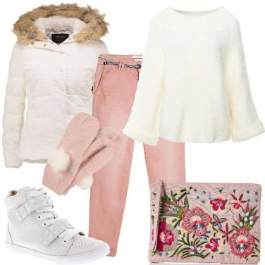 Outfit Fiocchi di neve e pompon