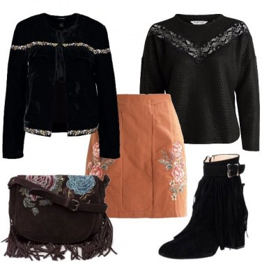 Outfit I ricami floreali