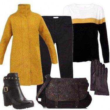 Outfit In giallo e nero