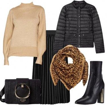 Outfit La sciarpa animalier