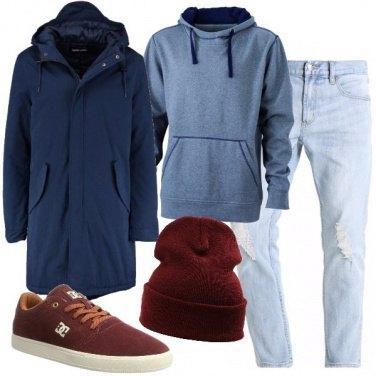 Outfit Il parka blu
