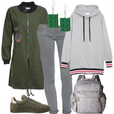 Outfit Il parka verde