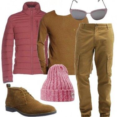 Outfit Rosa e cammello