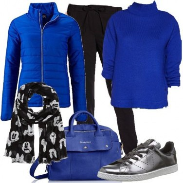Outfit Blu royal