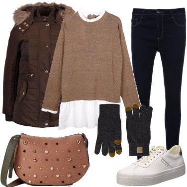 Outfit I guanti grigi