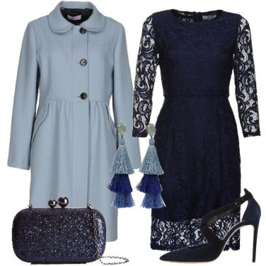 Outfit Elegante in blu e celeste