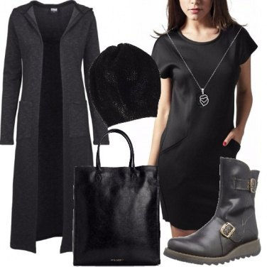 Outfit Nero ed urban