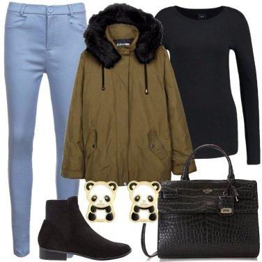 Outfit Orecchini con il panda