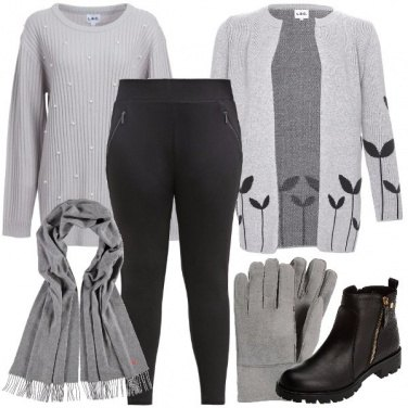 Outfit Cardigan a maglia