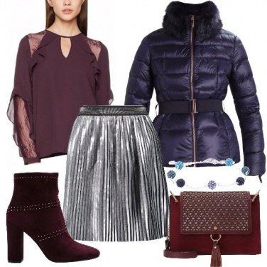 Outfit Blusa e stivaletto bordeaux
