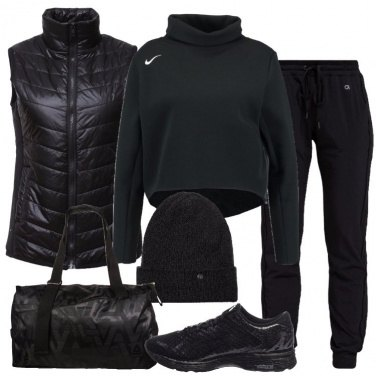 Outfit Sportiva in nero