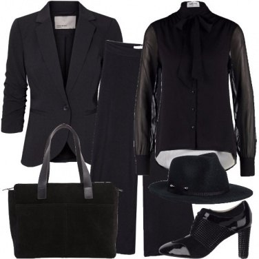 Outfit Donna in total black