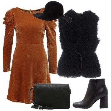Outfit L\'abito color bruciato