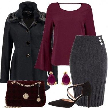 Outfit Elegante con la gonna di lana