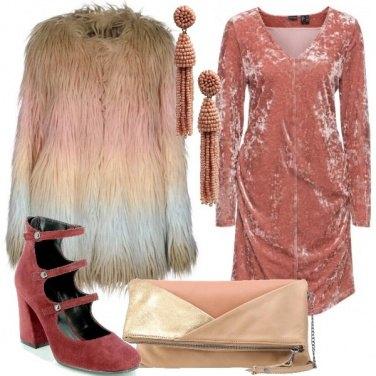 Outfit Velluto e pelliccia ecologica