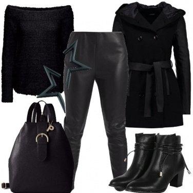 Outfit Nero al sol di luna