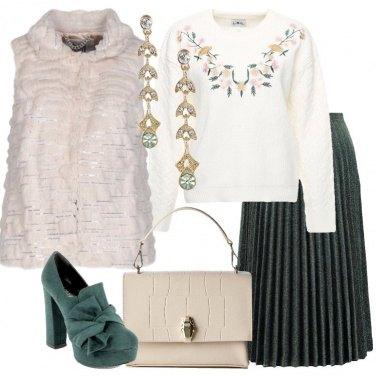 Outfit Gilet avorio ecofur
