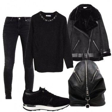 Outfit Nero sportivo
