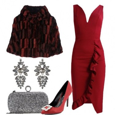 Outfit Cena in rosso