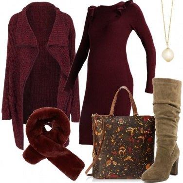 Outfit Una calda sciarpa di ecopelliccia
