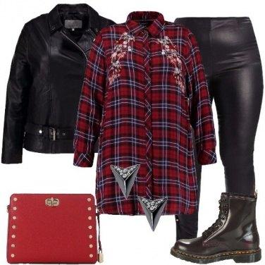 Outfit Una curvy rock