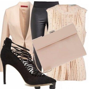 Outfit Leggings di pelle - versione elegante