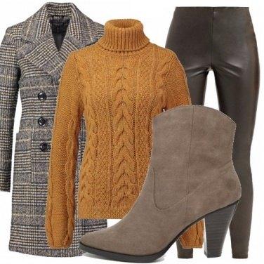 Outfit Leggings e principe di galles