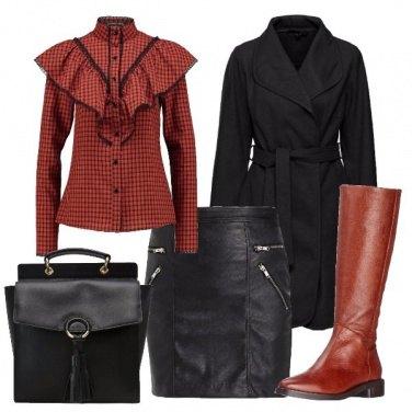Outfit Rouches e quadri