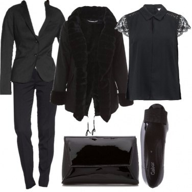 Outfit Nero chic in tailleur