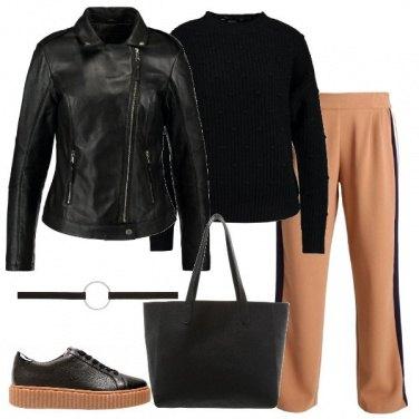 Outfit Il pantalone con la riga laterale