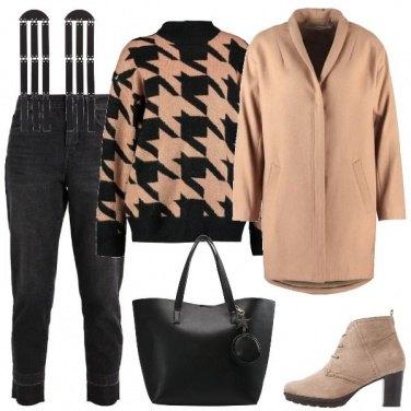 Outfit Il cappotto color cammello