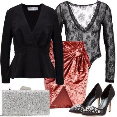 Outfit Pizzo e brillanti