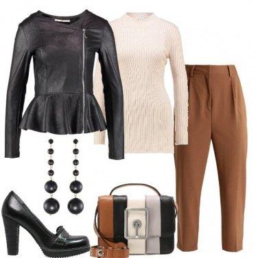 Outfit Il pantalone color bruciato