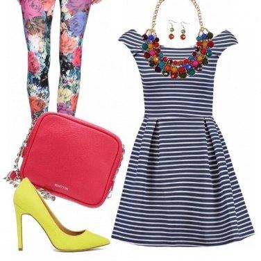 Outfit Multi colored leggings