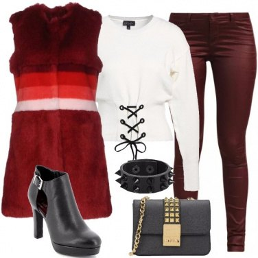 Outfit Rock rosso
