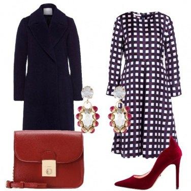 Outfit Blu e rosso