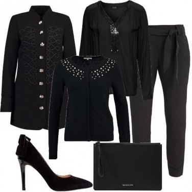 Outfit Total black formale