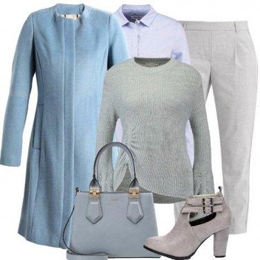 Outfit Tra il grigio e il celeste