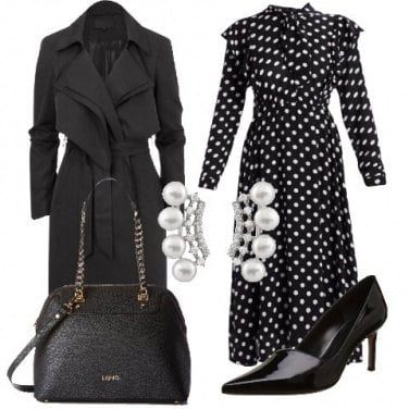 Outfit Vestito a pois