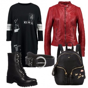 Outfit Giacca di pelle