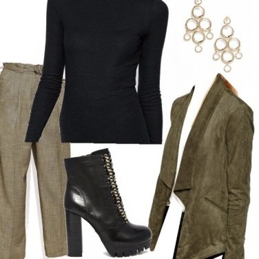 Outfit Sfumature di verde autunnale