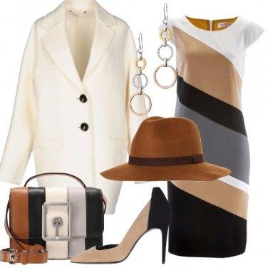 Outfit Chic con il cappotto avorio