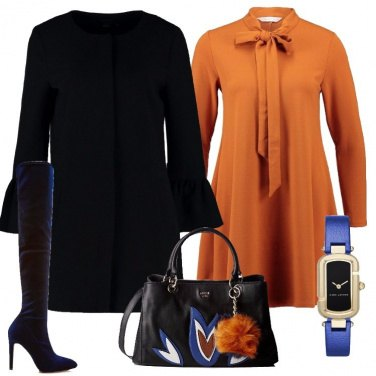 Outfit Cuissard in velluto blu