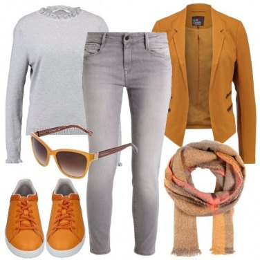 Outfit Giacca skinny e sneakers