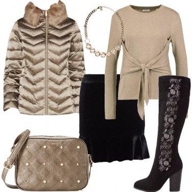 Outfit Fiori sugli stivali