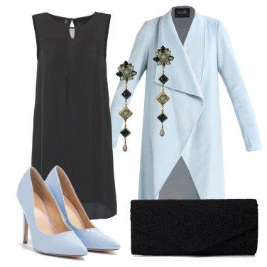 Outfit Il soprabito azzurro