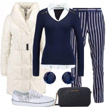 Outfit Le righe che slanciano