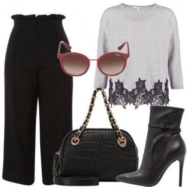 Outfit Maglione con merletto